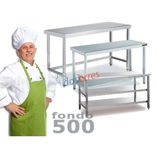 Mesa de trabajo central fondo 500