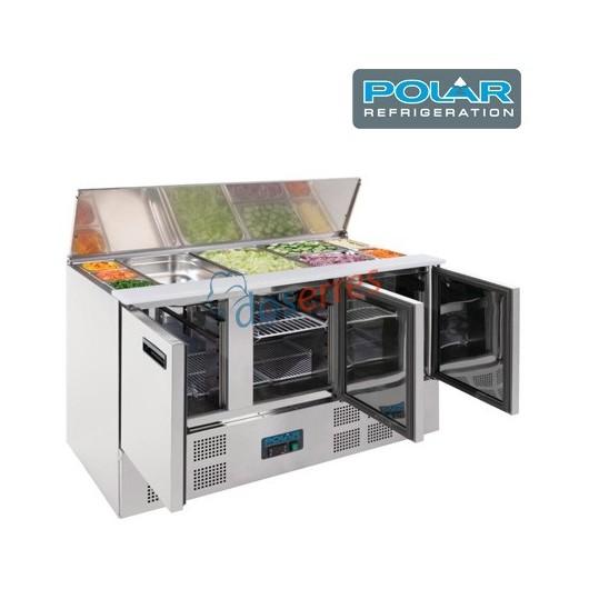 Mesa refrigerada para ensaladas Polar