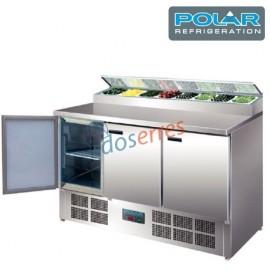 Mesa refrigerada POLIVALENTE 3 puertas para ensaladas  y pizzas Polar