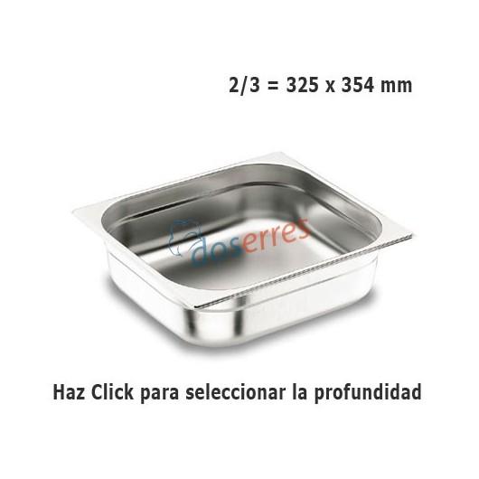 Cubeta 2/3 gastronorm