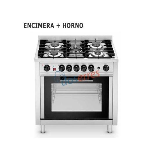 Cocina de 5 fuegos  horno eléctrico.