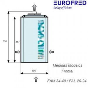 MEDIDAS Grupo mochila de congelación FAL 20