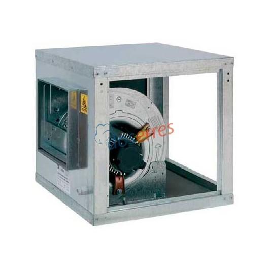 Caja de ventilación para campanas industriales