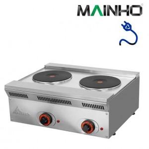 Cocina eléctrica de 2 fuegos Mainho