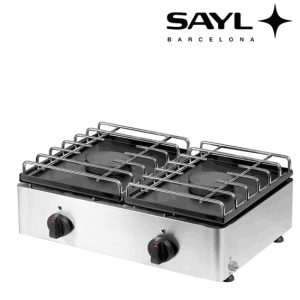 Cocina 2 fuegos de sobremesa Sayl