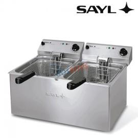 Freidora 8+8 litros Sayl
