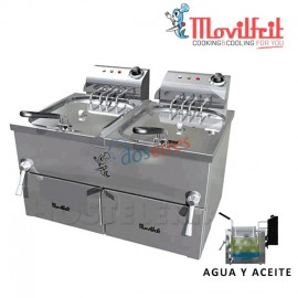 Freidora agua y aceite 10+10 lts movilfrit