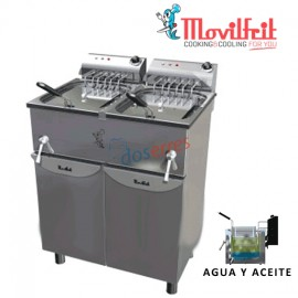 Freidora agua y aceite 17+17 lts movilfrit