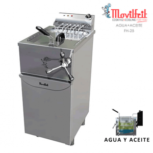 Freidora agua y aceite 25 lts movilfrit