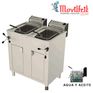 Freidora agua y aceite 25+25 lts movilfrit