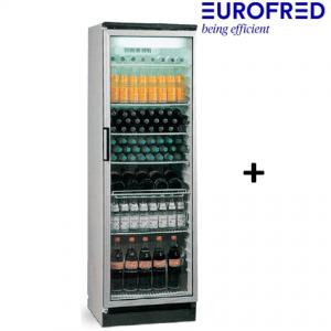 Armario con puerta de cristal FKG-371 Eurofred