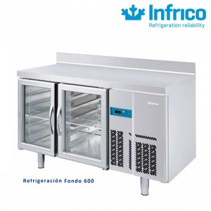 Mesa refrigerada puerta cristal Infrico 1500