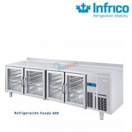 Mesa refrigerada PUERTA DE CRISTAL  Infrico 2500