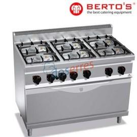 Cocina 6 fuegos con maxi horno