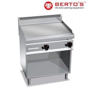 Fry Top de 800 Cromo Duro con soporte gama 700 bertos