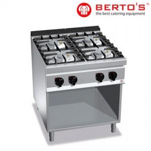 Cocina de 4 fuegos sobre soporte, fondo 900