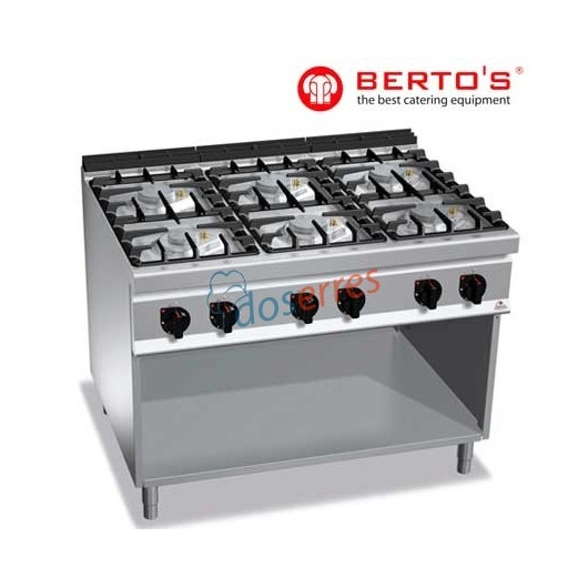 Cocina 6 fuegos bertos gama 900