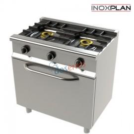 Cocina 2 fuegos con horno económica con soporte
