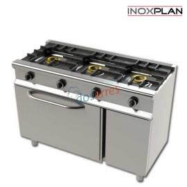 Cocina con horno económica de 3 fuegos
