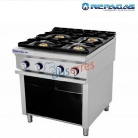 Cocina repagas 4 fuegos sobre soporte.