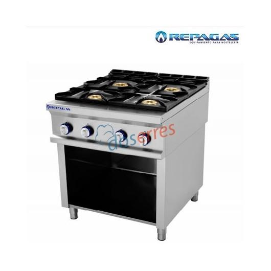cocina de 4 fuegos con soporte cocina repagas de gran