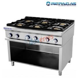 Cocina 6 fuegos mas soporte Repagas serie 750