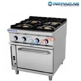 Cocina 4 fuegos + horno Repagas
