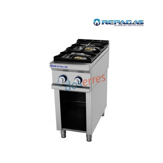 Cocina repagas 2 fuegos sobre soporte.