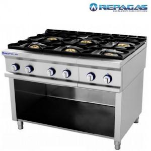 Cocina repagas 6 fuegos sobre soporte.
