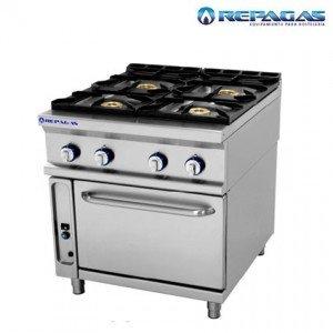 Cocina repagas 4 fuegos con horno fondo 900.