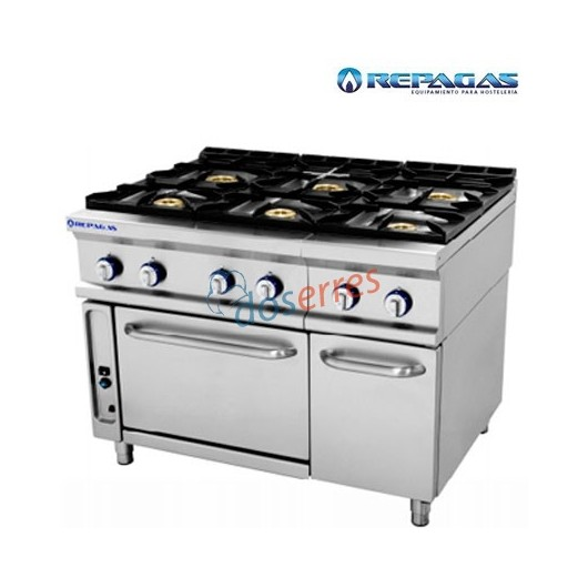 Cocina repagas 6 fuegos con Horno.