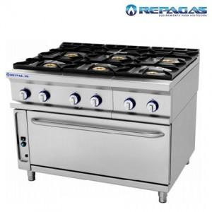 Cocina repagas 6 fuegos con Horno Grande.