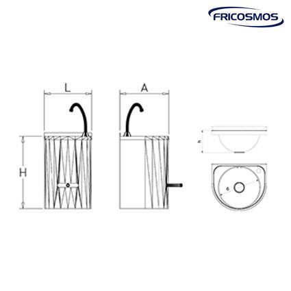 lavamanos mural palanca agua fría y caliente